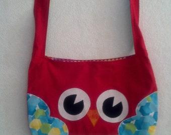 Owl Shoulder Bag - Red