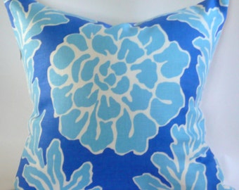 Dana Gibson Periwinkle Peony Pillow Cover