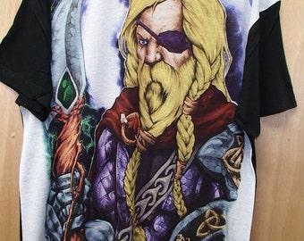 Scandinavian Norwegian Swedish Danish Norse Viking Odin T Shirt #5036 in color