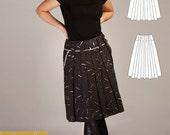 Zlata skirt pattern in three variations
