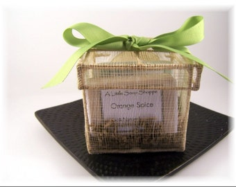 The Natural Gift Box ~Small~ 100% Natural Handmade Vegan Soaps/ birthday/Mother's Day/ Get Well/ Just Because