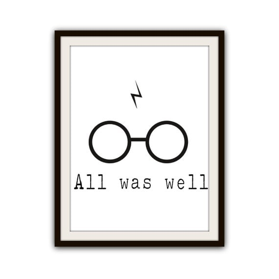 harry potter blitz gl ser typografie poster drucken selbst. Black Bedroom Furniture Sets. Home Design Ideas