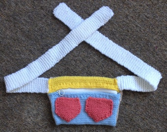 Custom Made Hand Knitted Bum Bag
