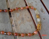 Amber necklace orange 15 inches  woman teen gift OOAKHandmade Jewelry