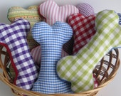 Small Fabric soft toy dog bones (without squeaker)