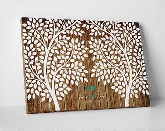 Guest Book Alternative - The Confetti Tree - A Victoria Rossi Design - 55-150 guest sign in - Dots Wedding Tree Guestbook - 16x20 Inches