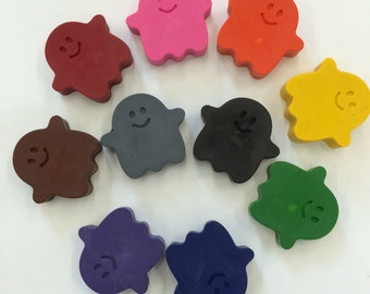 10 Happy Halloween Ghost Crayons  Birthday Party Favors