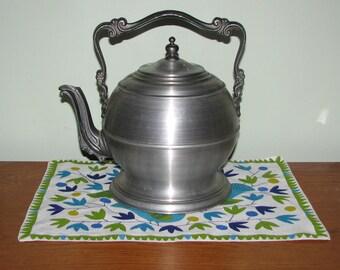 Vintage Pewtertone Ice Bucket -  Ice Bucket