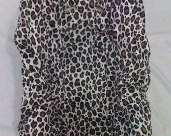 Black Leopard Car Seat Cover