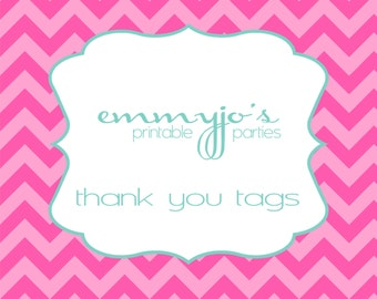 Printable Personalized Favor Tags