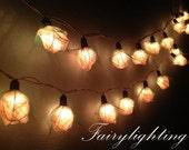 35 White Rose Flower Fairy String Lights Hanging Wedding lights, Party lights,Bedroom fairy lights,Indoor string lights,christmas lights.