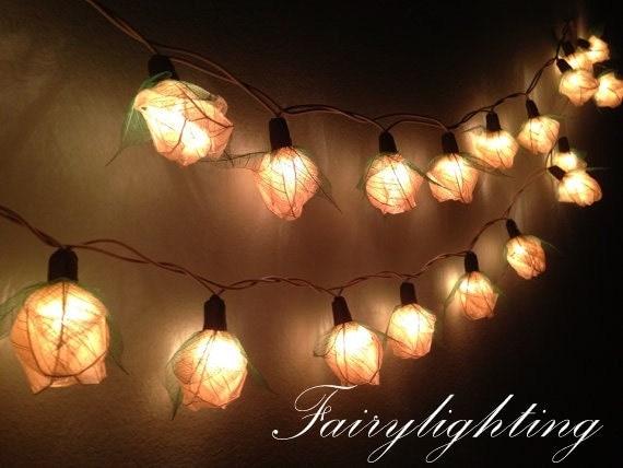 fairy lights 35 white rose flower fairy string lights