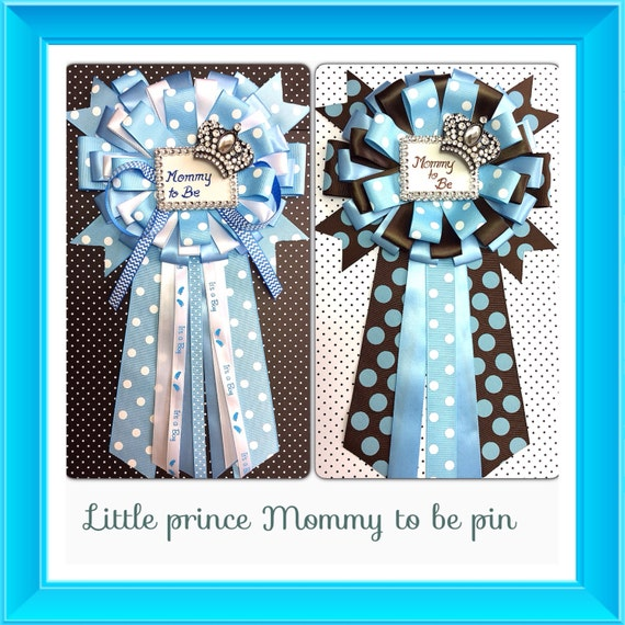 baby shower mommy to be pin little prince corsage royal prince baby