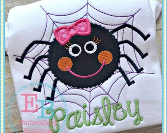 Dotted Spider Applique - This design is to be used on an embroidery machine. Instant Download