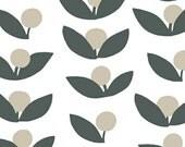 Lotta Jansdotter Fabric, Canvas Fabric, Glimma Fabric, Tove in Slate, Windham Fabrics, Modern Home Decor Fabric, Heavyweight Cotton Fabric