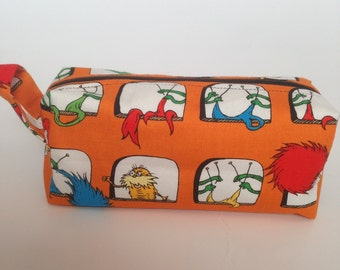 Dr. Seuss' The Lorax Print Cosmetic Bag