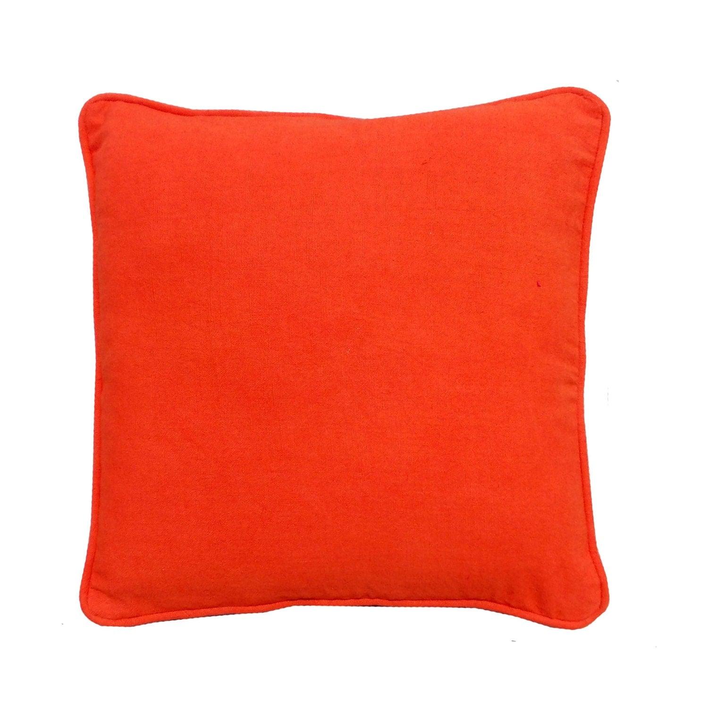 Decorative bright orange pillow cover cotton pillow cover