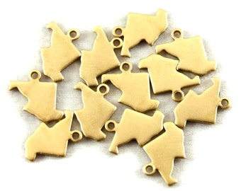 6x Blank Brass Maryland State Charms - M073-MD