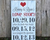 Personalized Wedding Sign-Important Date Art-Custom Colors