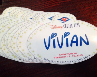 Disney Cruise Personalized Name Tag Magnets ~ Fish Extender Exchange Gifts SET of 5