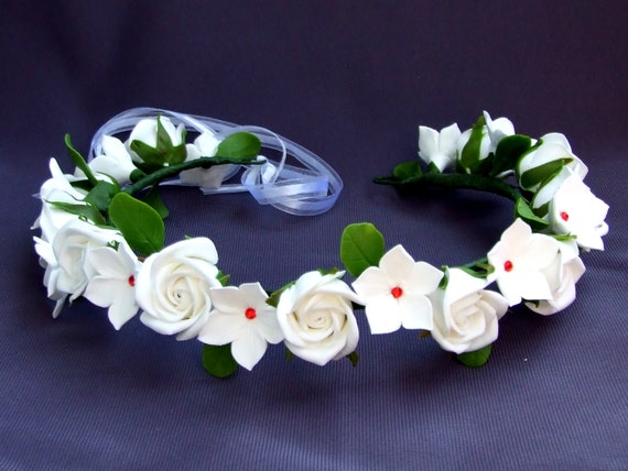 Bridal Flower Crown - Bridal Hair Accessories, Bridal Headband, Floral Crown, Flower Girl Hair Wreath, Wedding Headband