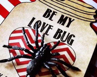 Children's Love Bug Valentine Card Instant Printable Download