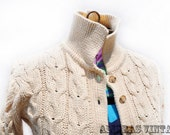 Vintage J.G. Hook Cable Knit Sweater Cardigan Retro