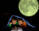 Glow In The Dark Large Moon Wall Sticker Decal