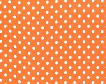 Michael Miller Dumb DOT in Tangerine, 1/2 Yard of Fabric