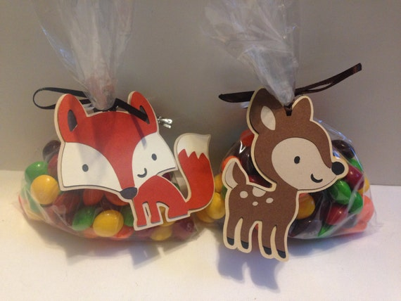 woodland critters baby shower favor tag forest animals baby shower
