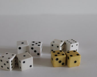 Lot of 4 Pairs Small Vintage Dice