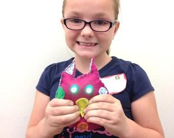 Fuchsia Glowie Monster Light-Up Plush Electronics & Sewing Kit