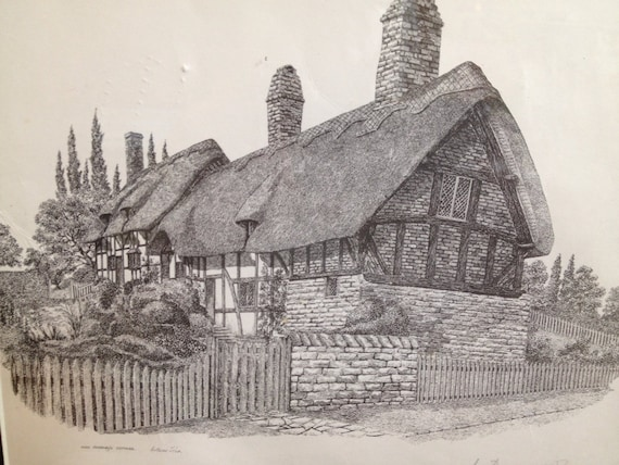 Anne Hathaway's Cottage Print by Anthony John Signed Framed