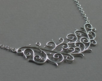 Filigree Crescent Necklace