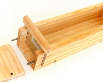 5 Pound Wooden Soap Mold for Cold Process Soap with Cutting Slot-