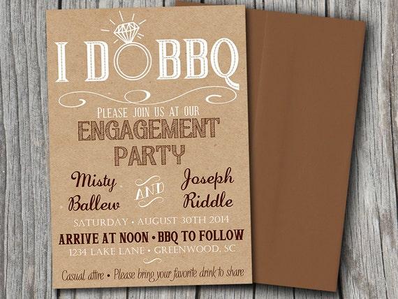 items similar to i do bbq bridal shower invitation