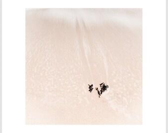 Beach Photography - Sand and Sea Print - Neutral Decor - Minimalist Photo - Minimalist Home Decor - Beige - Oversized Art - Print Set
