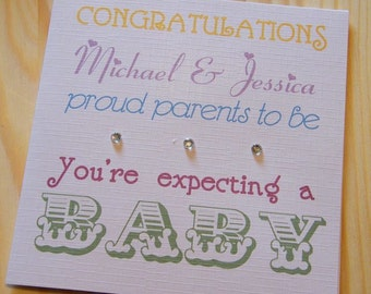 Handmade Personalised Expecting A Baby Card