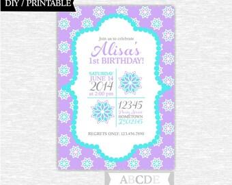 Lialc and Aqua Girl Birthday Invitation 5x7 DIY Printable (PDFL002)