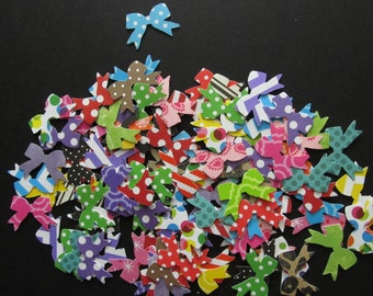 100  Martha Stewart Bow Punches in a Variety of Patterned Cardstocks for Paper Crafts