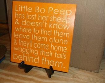 Little Bo Peep, Hp wooden sign, Children