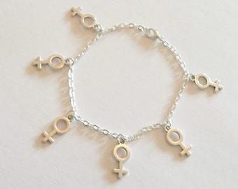 Venus Symbol Bracelet, Feminist Bracelet