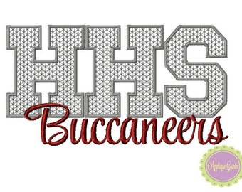 HHS Buccaneers Motif Stitch Embroidery  Design