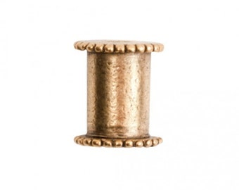 Channel Bead - Medium - Antique Gold
