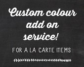 Custom Colour Add On