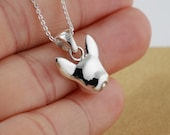 French bulldog  jewellery  handcrafted sterling silver necklaces