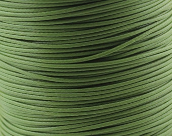 30 ft. 1.0/ 1.5/ 2.0mm Olive Waxed Cotton Cord, Environmentally Friendly Materials