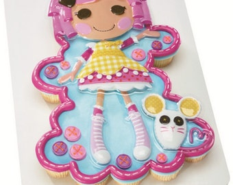 Lalaloopsy Crumbs Sugar Cookie Pop Top Cake Topper Decor Set