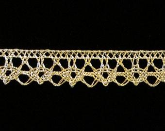 "512 Metallic lace trim - ""Spangle"" - 1/2"" (12mm)"