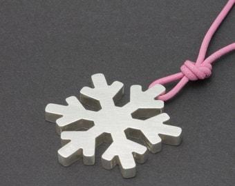 Schneeflocke - Silberanhänger